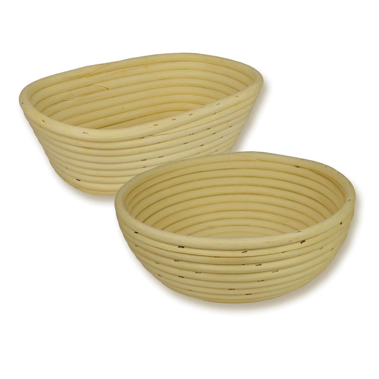 Gärkörbchen-Set rund und oval spezial 1000 g Peddigrohrkörbchen Brotform aus Peddigrohr