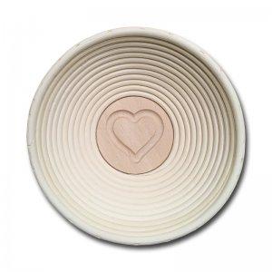 Bild 3 zu Artikel  Gärkörbchen rund für 500 bis 750g-Brot mit Stempel HERZ
