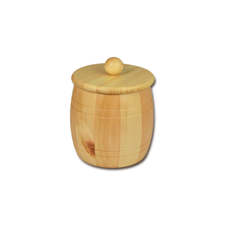 Bild zu Getreidefass 1,0 kg aus massivem Zirbenholz