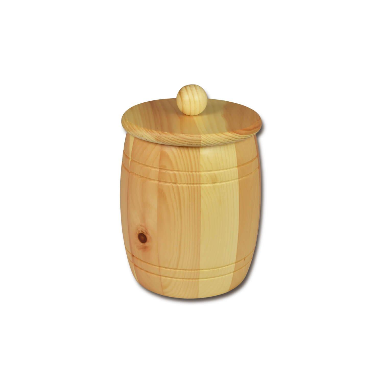 Bild zu Getreidefass 1,5 kg aus massivem Zirbenholz