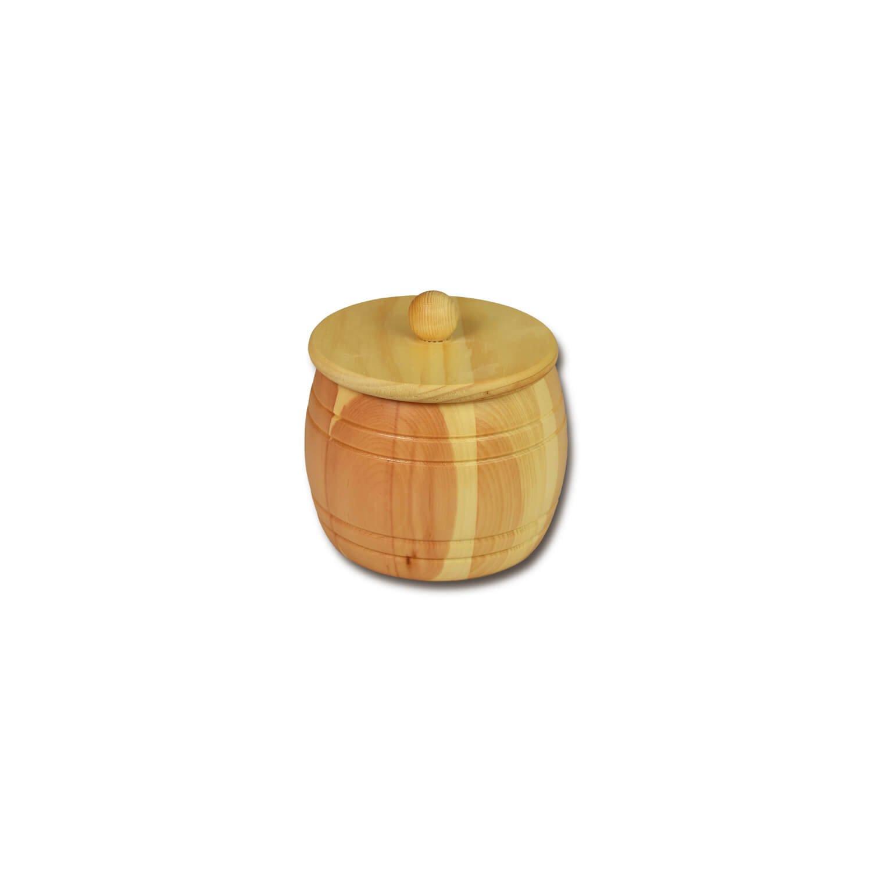 Bild zu Getreidefass 0,35 kg aus massivem Zirbenholz