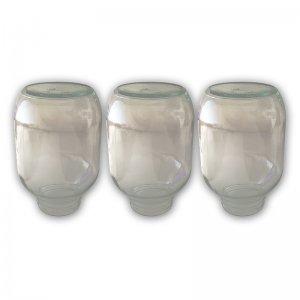 3 Ersatzgläser für den Flaschenkörnerspeicher 1,9 kg
