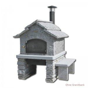 Steinofen-Fertigbausatz Modell Tessin 6/8 mit Rauchrohr