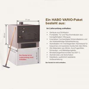 Bild 2 zu Artikel Steinofen-Fertigbausatz Modell Vario-Sandstein mit Kupferdach + Rauchrohr