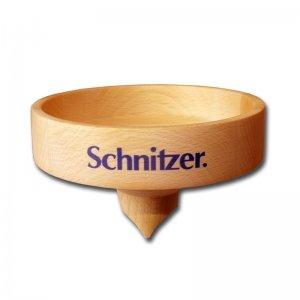 Trichter aus massivem unbehandelten Buchenholz für Schnitzer Campo