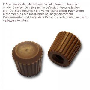 Bild zu 2 Stück Hutmutter für den Mehlauswerfer braun