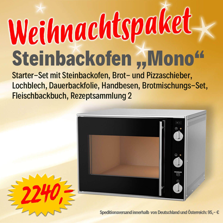 Bild zu  Weihnachtspaket Elektro-Steinbackofen MONO