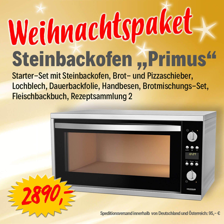 Bild zu  Weihnachtspaket Elektro-Steinbackofen PRIMUS
