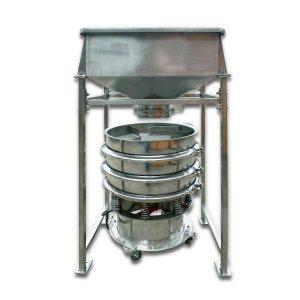Bild zu Elsässer Siebmaschine 600-2, mit Trichter auf Fußgestell für ca. 30 kg