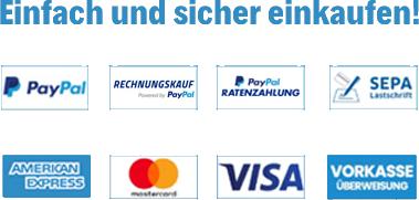 Einfach und sicher einkaufen - Unsere Zahlungsmöglichkeiten