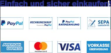 Sicher einkaufen - Unsere Zahlungsmöglichkeiten